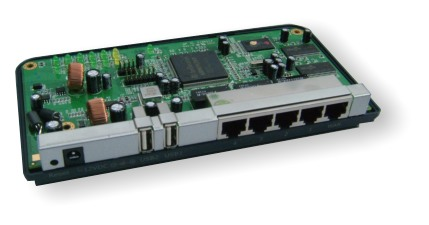 Embedded controller board on the base of the compact case