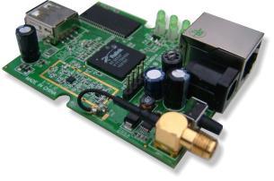 MiniEMBWiFi Linux board PCB