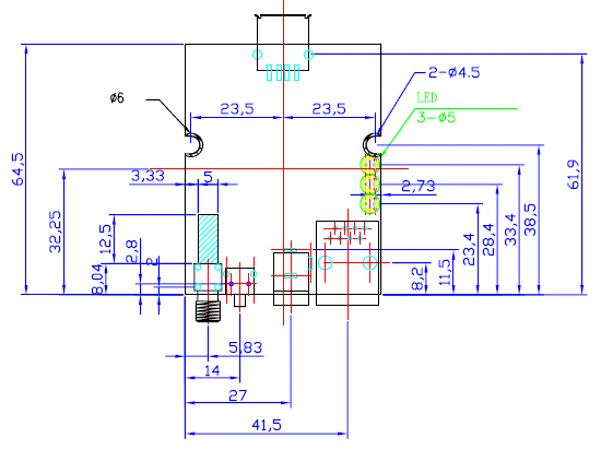 MiniEMBWiFi  mechanical drawing
